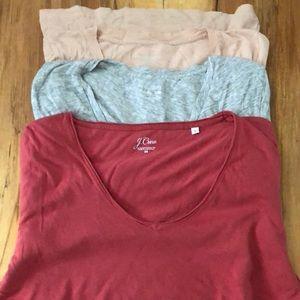 J.crew cotton v neck T-shirt lot M